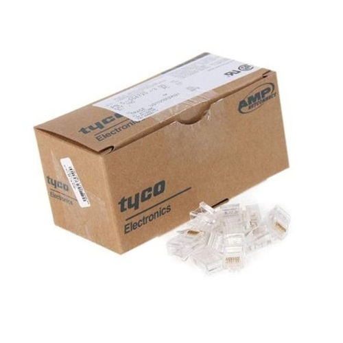 AMP Tyco Cat5e RJ45 Ethernet Network Modular Connector Plug - Box of 100pcs