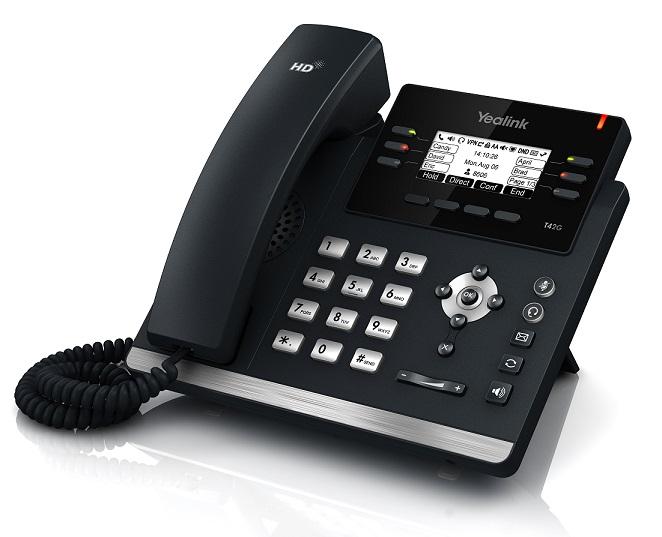 Kết quả hình ảnh cho SIP-T42G: Điện thoại IP Yealink SIP-T42G