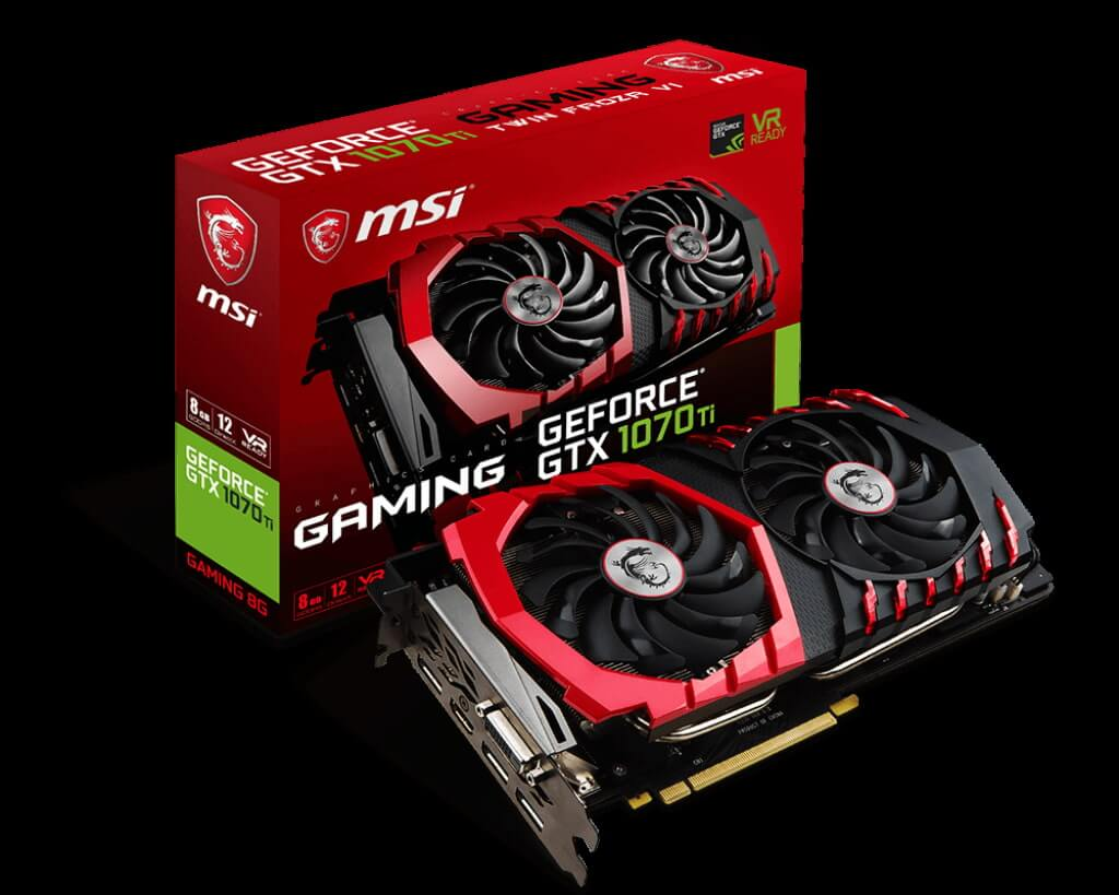 MSI Nvidia Geforce GTX 1070 Ti Gaming 8GB (256 bit) DDR5