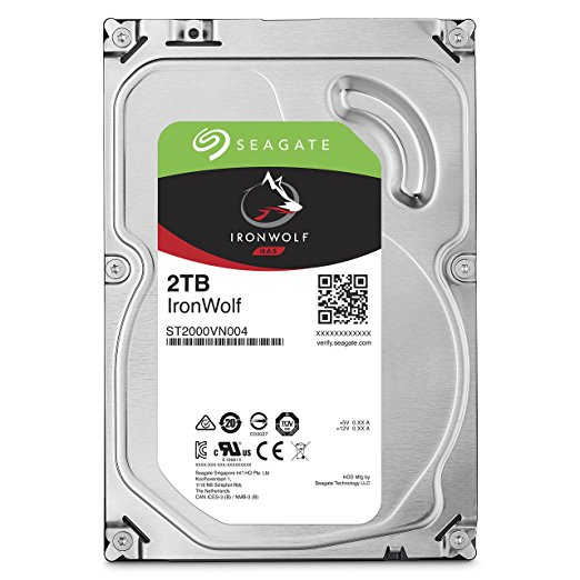 Seagate 2TB IronWolf NAS SATA 6Gb/s NCQ 64MB Cache 3.5-Inch Internal Hard Drive